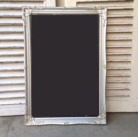 MD060f - Chalkboard with Silver Frame