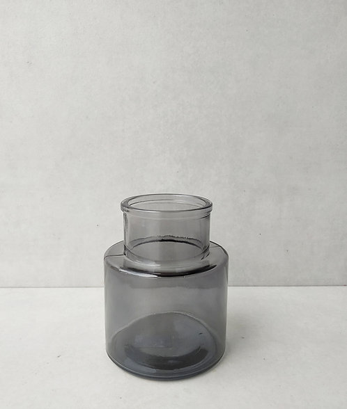 MD022g - Modern Grey Glass Bud Vase