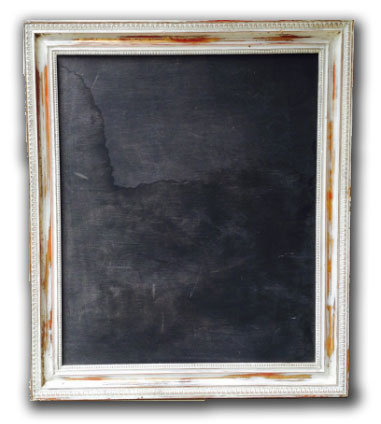 MD060g - Chalkboard with Light Blue Frame