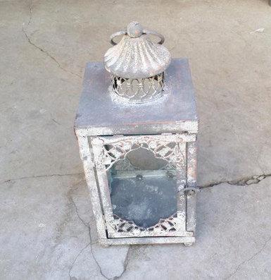 MD013a - Dark Grey Square Lantern S