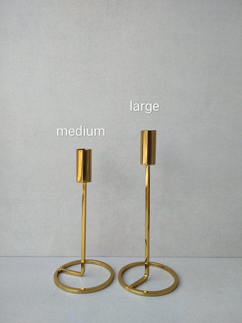 MD048a Scandi style brass candlestick L
