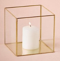 MD020 - Gold framed glass box square