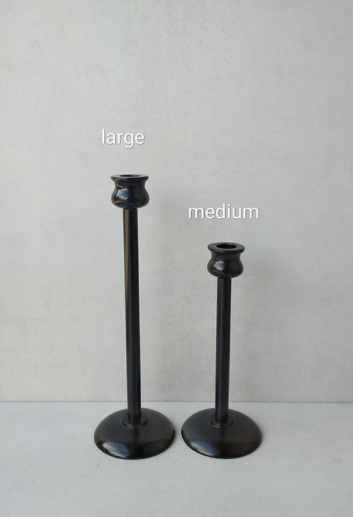 MD047a Black Scandi Candlestick L