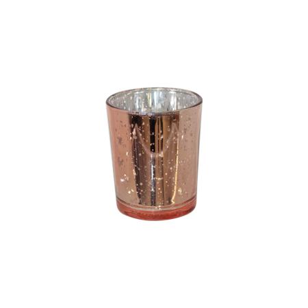 MD016a - Speckled Rose Gold Votive