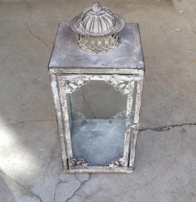 MD013b - Dark Grey Square Lantern L