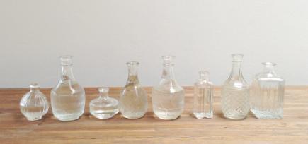 MD030 - Set of 8 Vintage Decanter Bottles