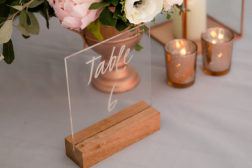MD051 - Numbered Acrylic Table Numbers