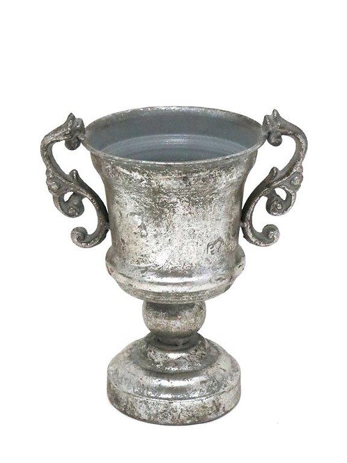 MD028a - Silver Distressed Compote