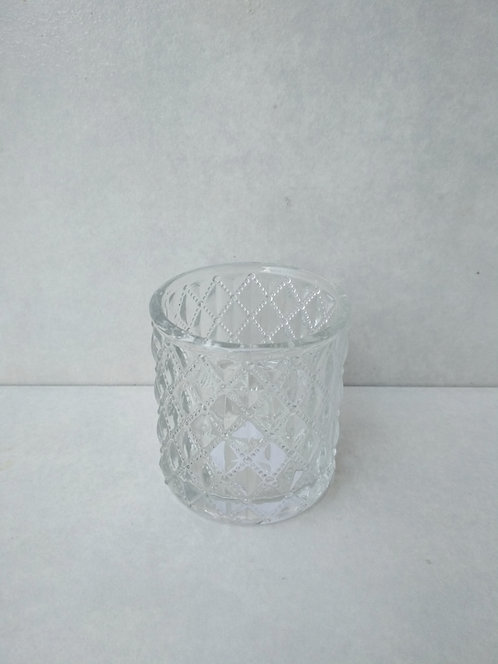 MD019c- Embossed Glass Votive