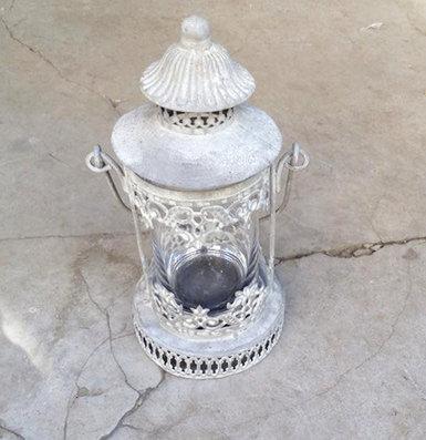 MD012 -  Grey Distressed Lantern