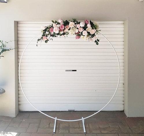 MD052c - DIY White Circle Arch