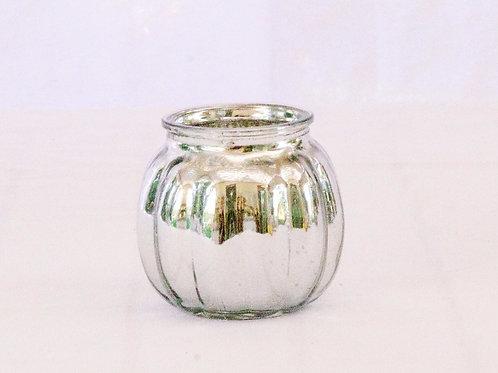 MD017a - Silver Votive Round Small