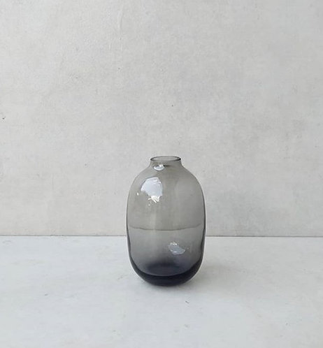 MD022g - Rounded grey bud vase