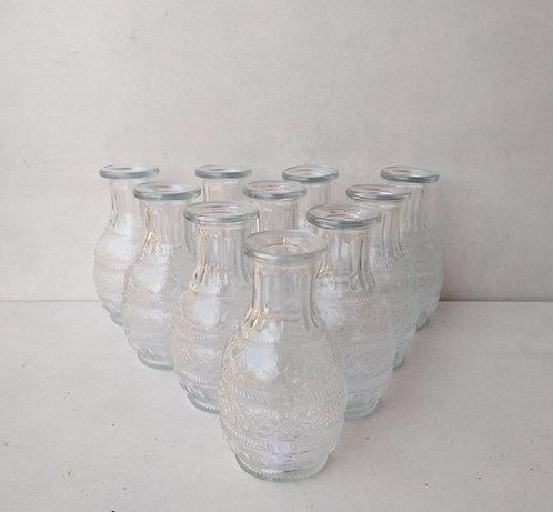 MD030b - Vintage bud vase bottles set of 10