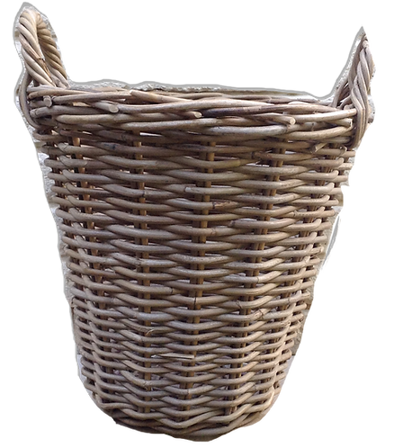 MD009 - Light brown woven basket with handles