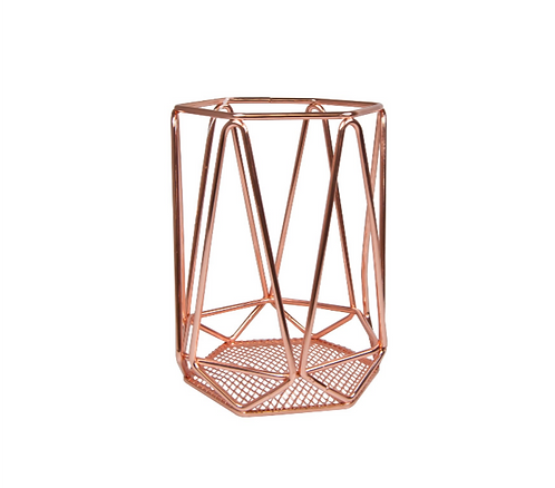 MD016 - Copper Geometric Candle Holder