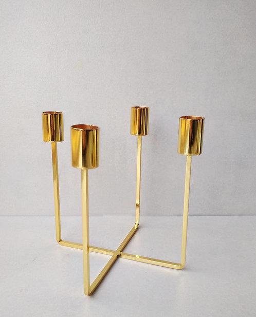 MD043a - Scandi style gold candelabra