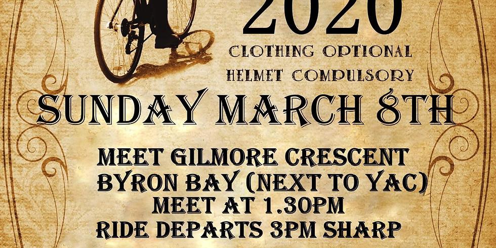 World Naked Bike Ride 2020 - Byron Bay