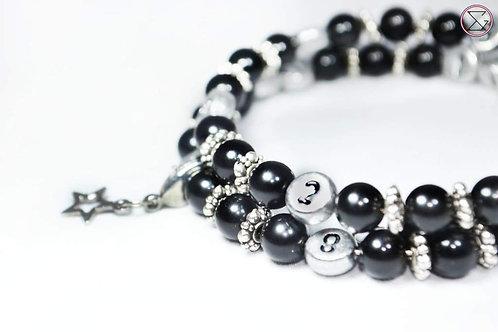 Bracelet d'allaitement - Obsidienne noir
