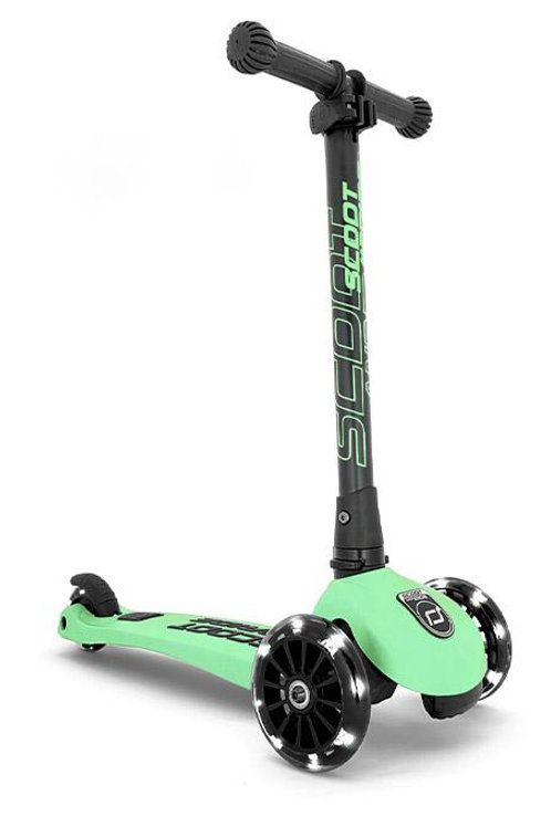 Trottinette 3 roues lumineuses LED - Vert kiwi - Scoot and ride