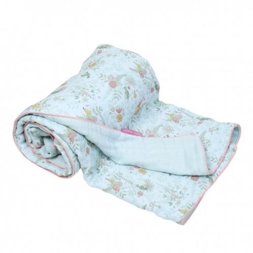 Couverture bébé bleue Paradis - Little Crevette