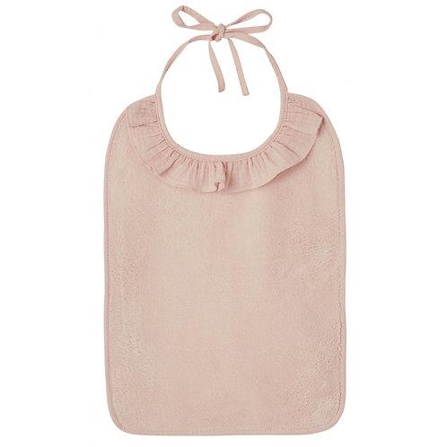 Grand bavoir bambou et gaze de coton rose blush - BB&Co