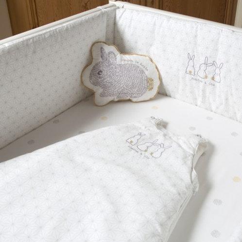 Drap-housse bébé coton bio Pompom Little Crevette