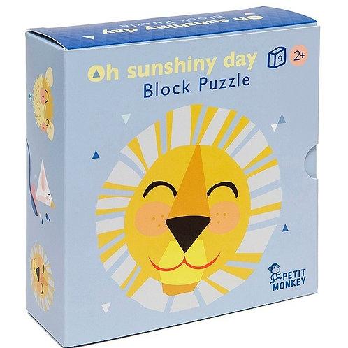 """Cubes en bois puzzle """"jour ensoleillé"""" - Petit Monkey"""