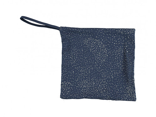Doudou attache-tétine gold bubble / night blue- Nobodinoz