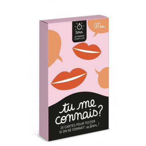 """""""Tu me connais?"""" 25 cartes pour tester  - Minus Éditions"""