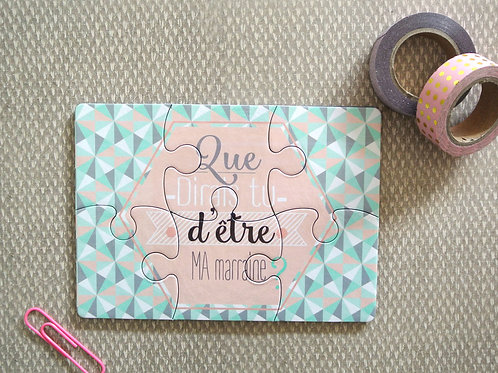 Puzzle demande de marraine - Little POP Studio
