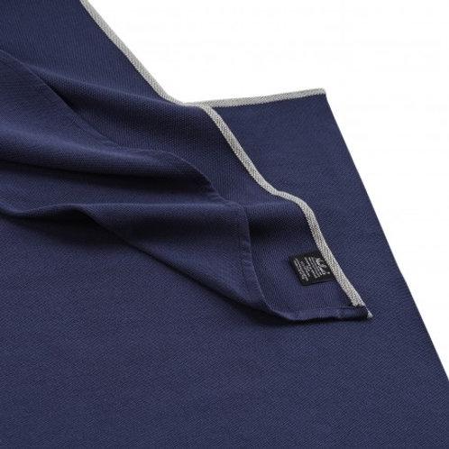 Écharpe de portage bébé en coton bio bleu frégate 4,60m