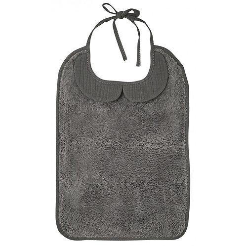 Grand bavoir bambou et gaze de coton gris - BB&Co
