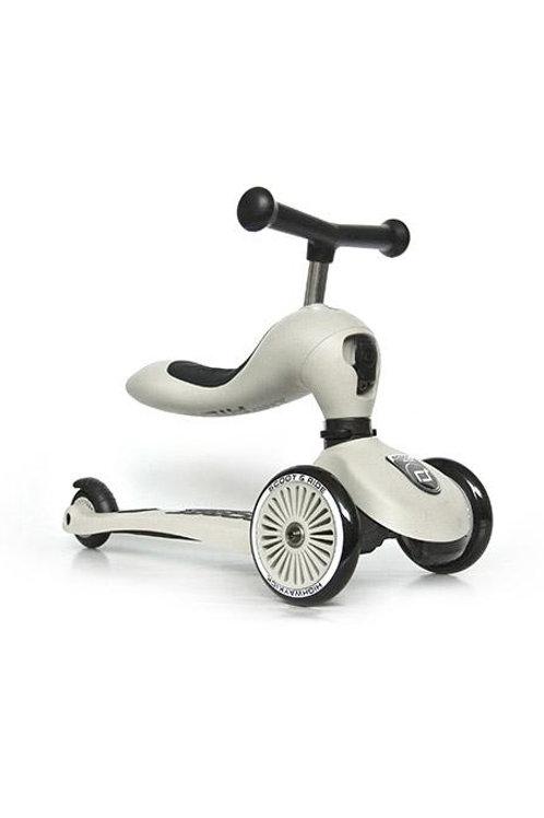 Trottinette évolutive 2 en 1 gris cendre - Scoot and Ride