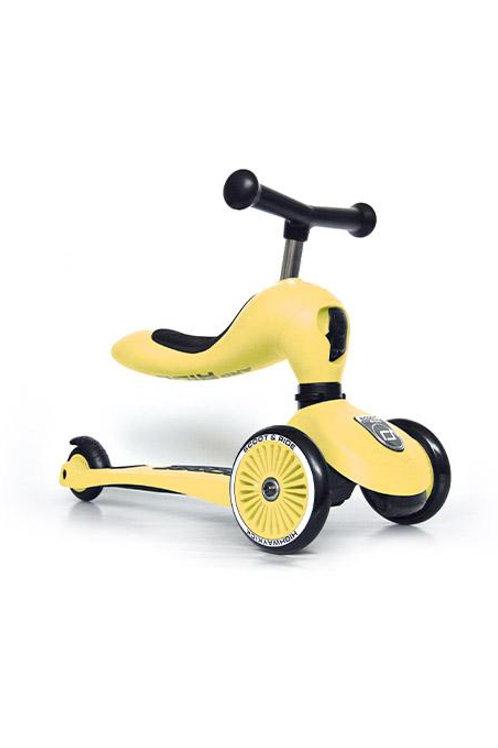 Trottinette évolutive 2 en 1 jaune citron - Scoot and Ride