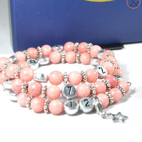 Bracelet d'allaitement - Quartz rose