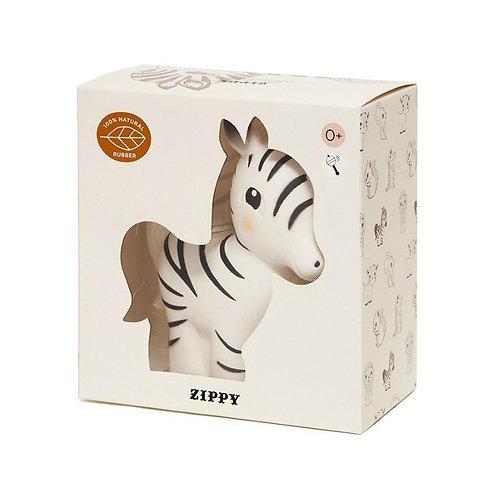 Hochet Zippy le Zèbre 100% caoutchouc naturel - Petit Monkey