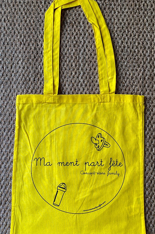 "Le tote bag ""Ma ment part fête"