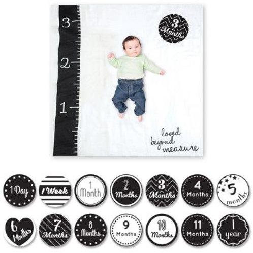 Cartes étapes de bébé et maxi lange Loved Beyond Measure - Lulujo