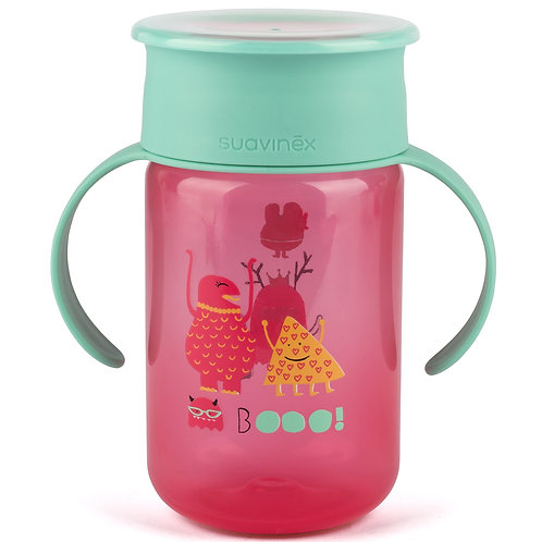 Tasse 360° Boo rose (340ml) - Suavinex