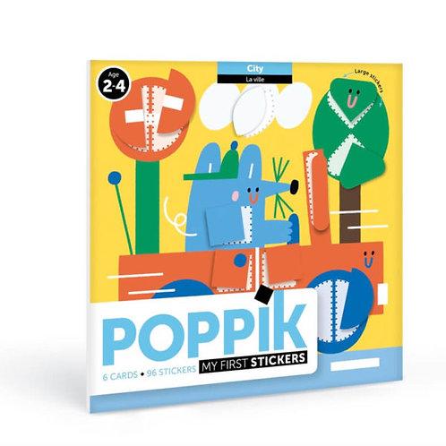 Mes premières gommettes - Poppik - Dans la ville 2 ans et +