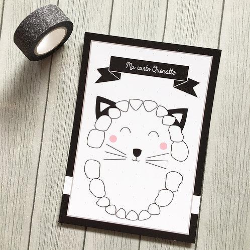 Carte Quenottes sortie de dents - Little POP Studio