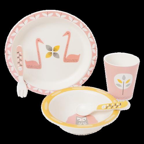 Set de vaisselle en bambou cygne - Fresk