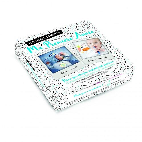 """Kit pour photos """"Ma première année"""" bleu"""