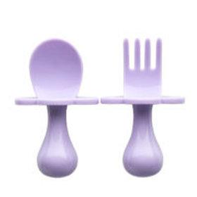 Couverts ergonomiques d'apprentissage lilas