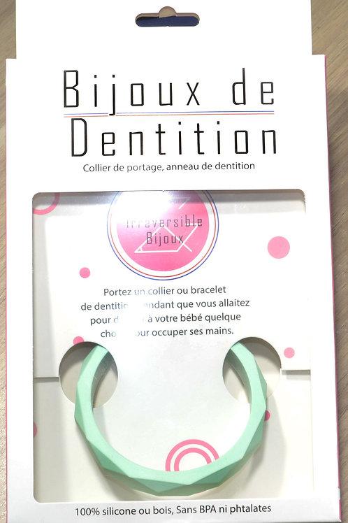 Bracelet de dentition - vert d'eau