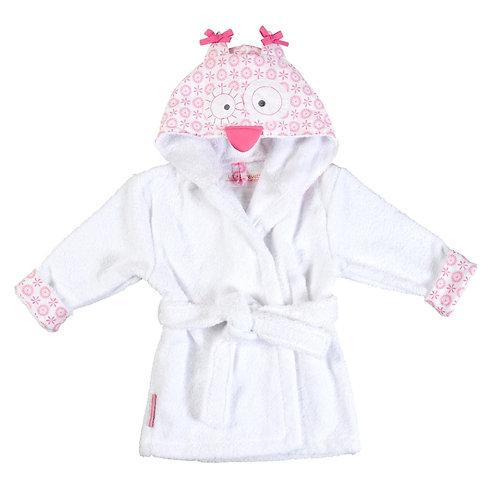 Peignoir enfant fille Hibou rose 2/3 ans - Little Crevette