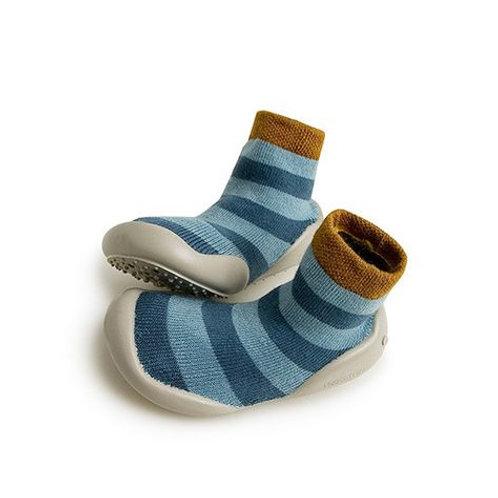 Chaussons Chaussettes - Blue Stripes - Collégien Officiel