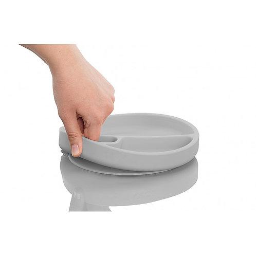Assiette antidérapante en silicone Minikoioi - Gris