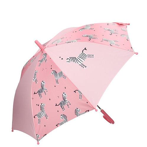 Parapluie enfant zebra rose